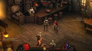 Diablo 3 - Komplettlösung : Im Gasthaus zum Geschlachteten Kalb treffen wir auf Deckard Cains Tochter, Leah.