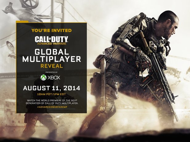 Der Mehrspieler-Part von Call of Duty: Advanced Warfare wird am 11. August 2014 via Live-Stream enthüllt.