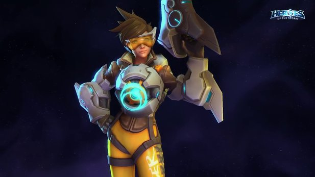 In Heroes of the Storm ist Tracer genauso cool wie in Overwatch.