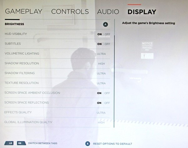 Quantum Break - geleakter Screenshot des Grafikmenus der PC-Version (Quelle: imgur.com)