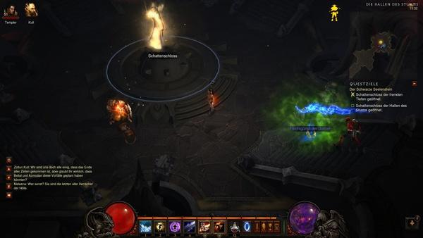 Diablo 3 - Komplettlösung : Das Schattenschloss in der Halle des Sturms.