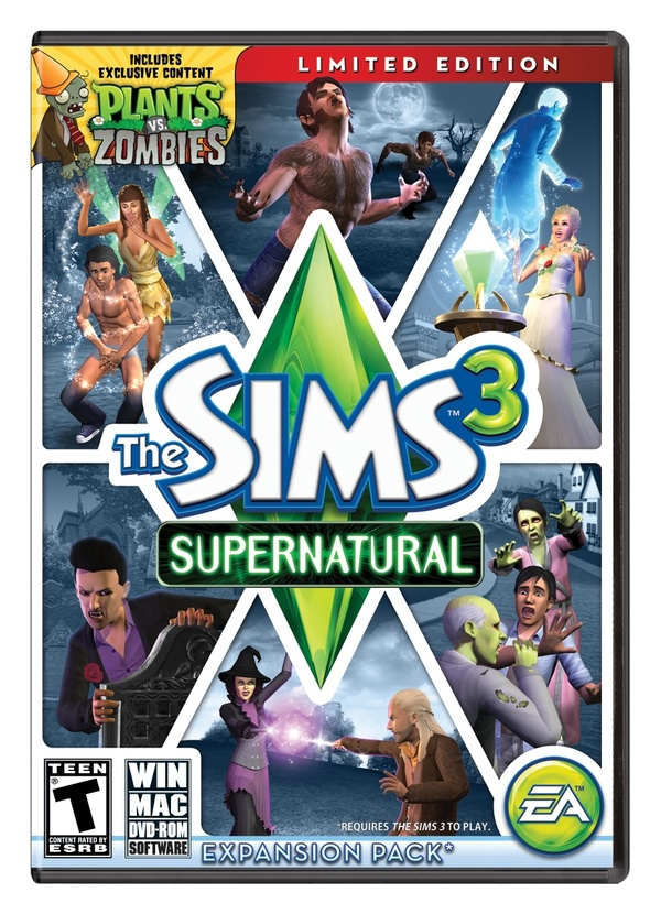 Cover zu Die Sims 3: Supernatural