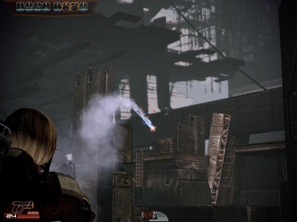 Mass Effect 2 : Mit Ihren zielsuchenden Fertigkeiten können Sie auch Feinde in sicherer Deckung erledigen.