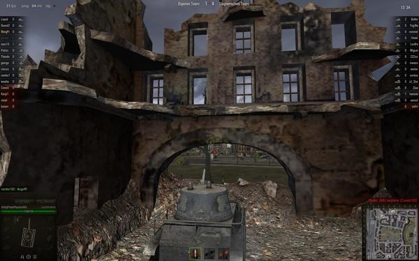 World of Tanks : In Städten gibt es selten Büsche zum Verstecken, nutzen Sie trotzdem das Terrain und jede Deckung die sich bietet.