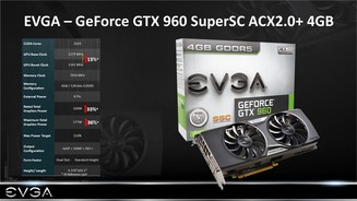 EVGA Geforce GTX 960 SuperSC ACX2.0+ 4GB