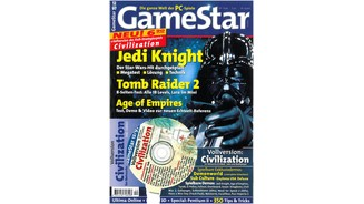 <b>GameStar 12/1997</b><br>Jedi Knight-Mega-Test mit allem über Endgegner, die Macht und die Hardwareanforderungen. Außerdem: Previews zu NBA 98 Live, Monkey Island 3, Gex 2 und Anno 1602 und Tomb Raider 2, Age of Empires, Dungeon Keeper, Sid Meier's Gettysburg, Virtual Pool und Myth.