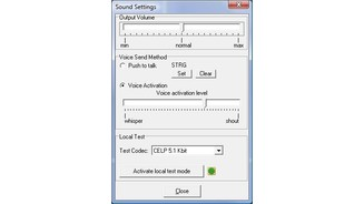 Sound Input-/Output-Optionen