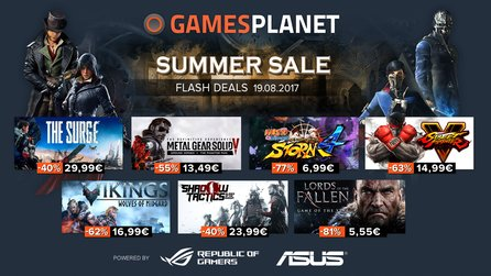 Gamesplanet Summer Sale 2017 - Shadow Tactics, Metal Gear und Wildlands
