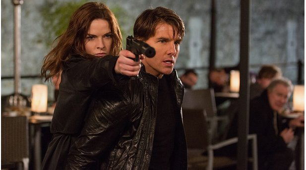<b>Mission: Impossible - Rogue Nation</b><br>Bilden ein gutes Team: Ilsa (Rebecca Ferguson) und Ethan (Tom Cruise)
