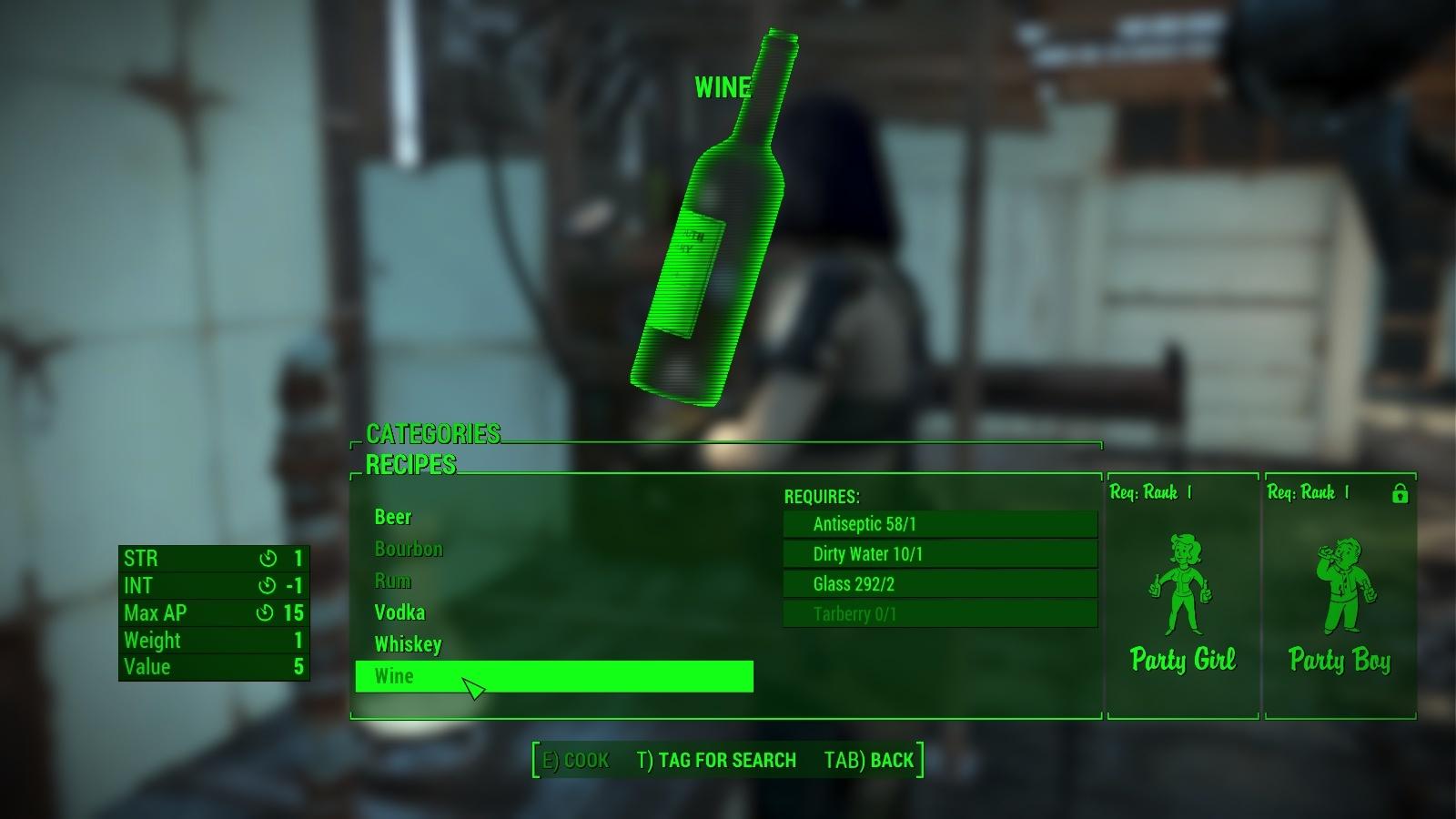 Die Mod Craftable Alcohol versorgt uns immer mit Treibstoff.