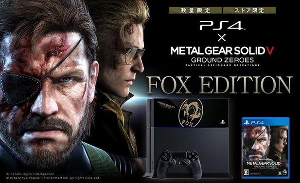 Die PlayStation 4 erscheint demnächst als Fox-Edition im Bundle mit Metal Gear Solid 5: Ground Zeroes. Bisher allerdings nur in Japan.