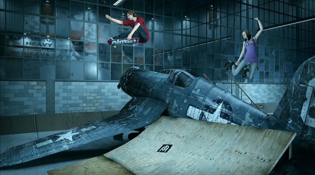 Schick: Der Hangar-Level aus Tony Hawk 2 in knackigem HD.