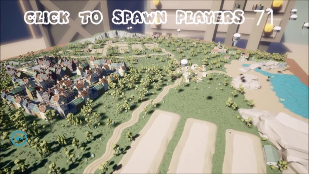Battle Royale Simulator - Gameplay-Video: 100-Spieler spawnen