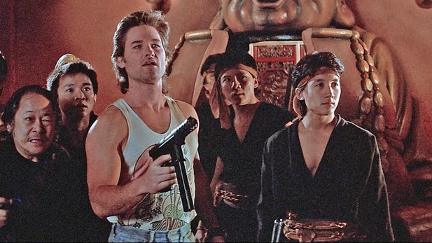 Kurt Russel im Kultfilm Big Trouble in Little China von John Carpenter.