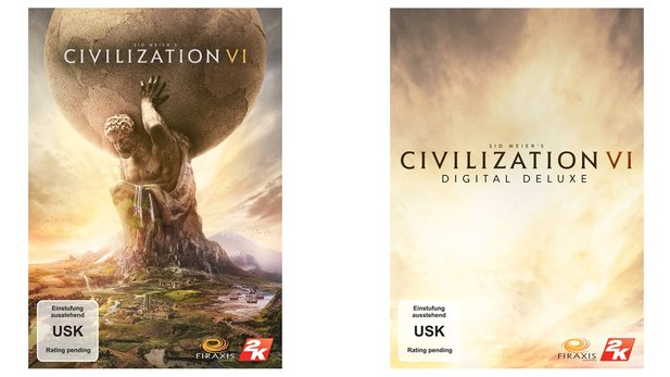 Civilization 6 gibt's sowohl in der Standardversion, als auch als Digital Deluxe Edition.
