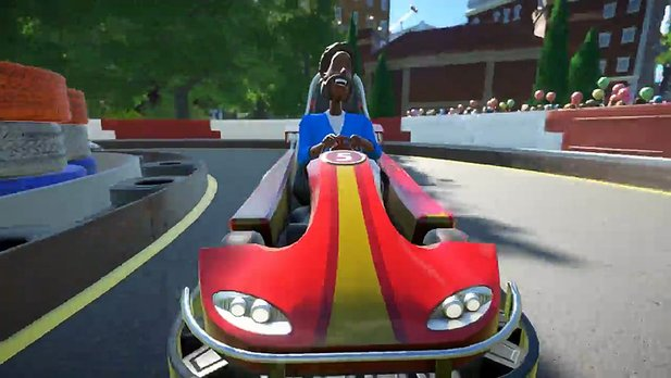 Planet Coaster - Gameplay-Video zeigt First-Person-Kartfahrten