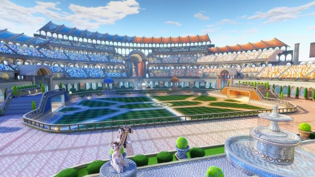 Die Map namens »Utopia Coliseum« für Rocket League erinnert an das Kolosseum in Rom.