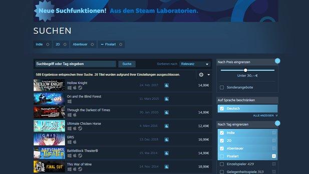 Steam Suche
