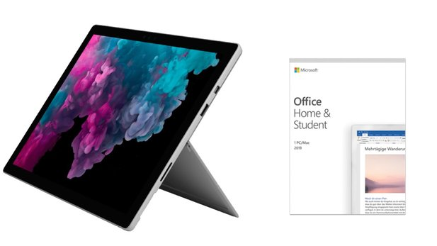 Surface Pro 6 + Office Home and Students 2019 zum Angebotspreis bei Saturn