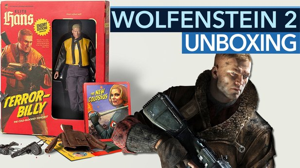 Wolfenstein 2: Collector's Edition - Unboxing-Video: Michi spielt mit Terror-Billy