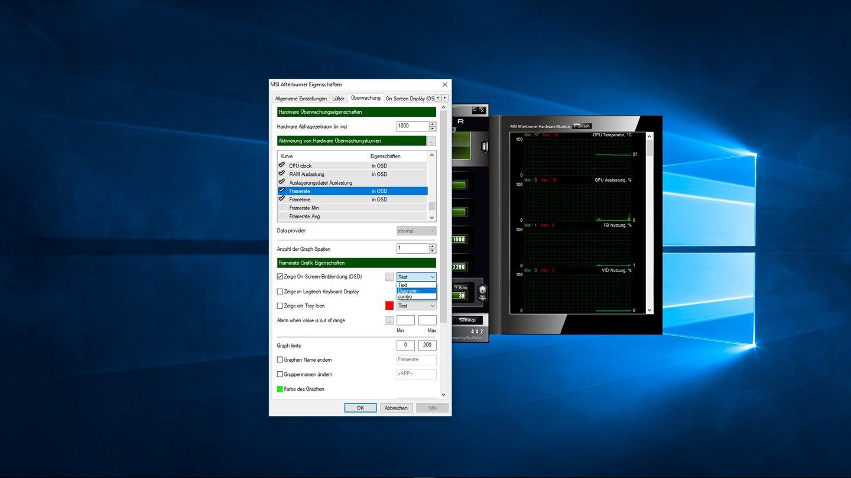 fps & PC-Auslastung anzeigen - On-Screen Display in Spielen einrichten