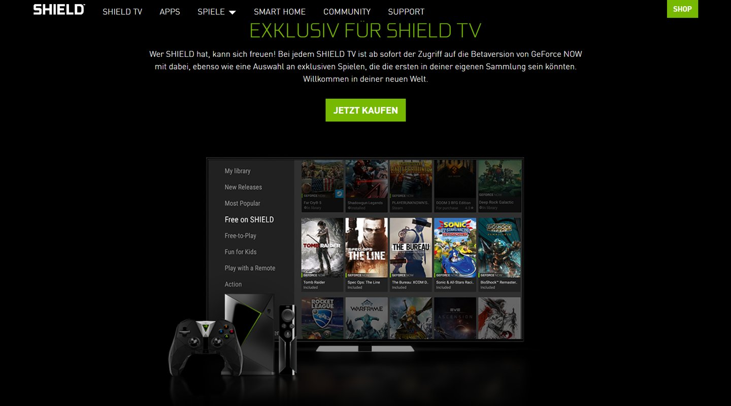 Streaming-Box statt Spiele-PC - Geforce Now Beta mit Steam