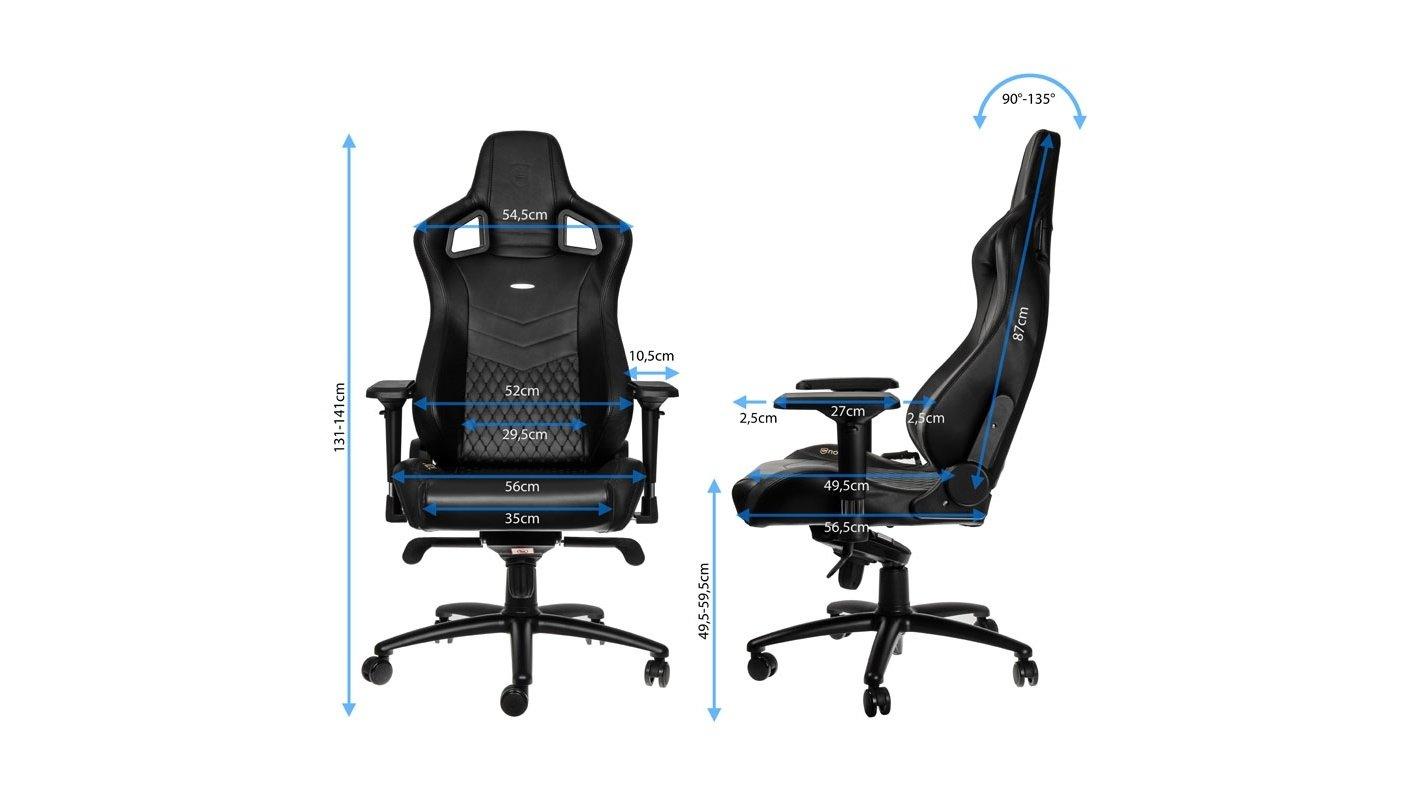 Mit Oder Epic Stühle Leder Noblechairs Gaming Echtem Lederimitat 4jL5AR