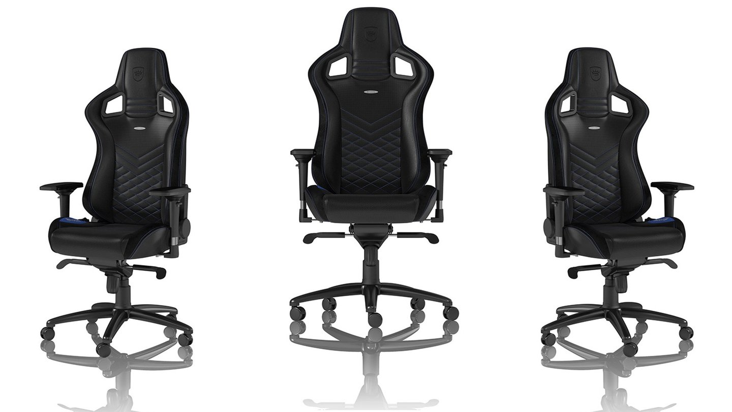 noblechairs epic gaming stuhl premium stuhl f r profi gamer gamestar. Black Bedroom Furniture Sets. Home Design Ideas