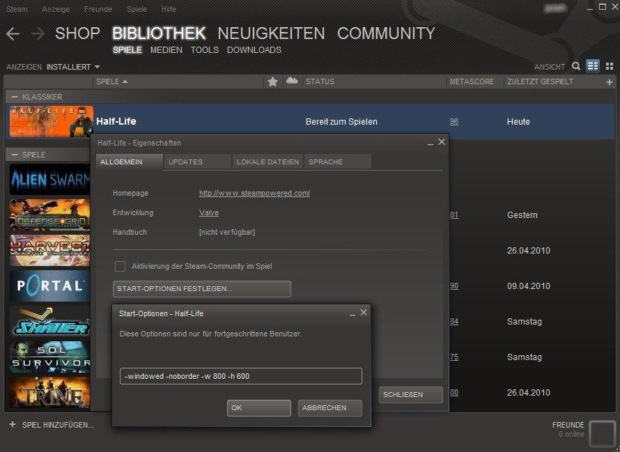 Steam Vollbild