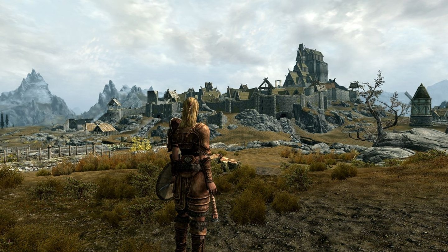 The Elder Scrolls 5: Skyrim - E3-Screenshots: Whiterun Exterior