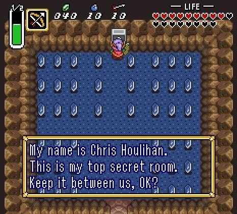 Der Raum von Chris Houlihan in The Legend of Zelda: A Link to the Past.