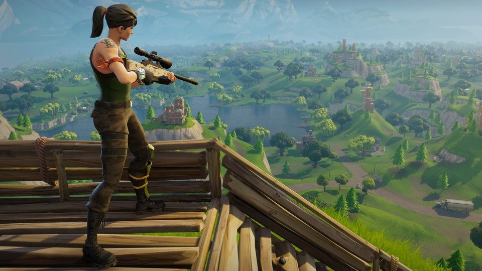 Fortnite: Battle Royale verquickt Deathmatch mit Basenbau.