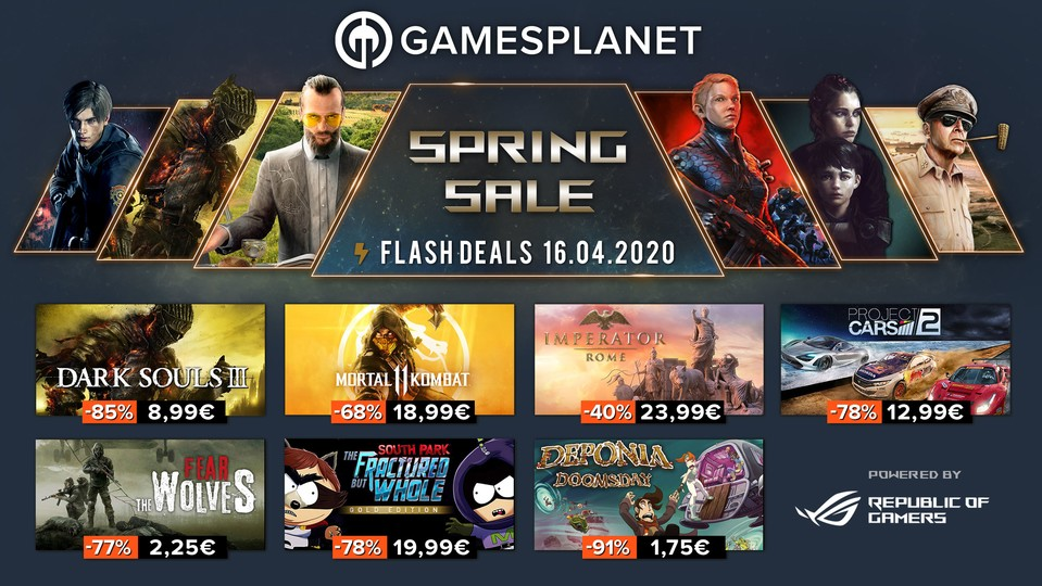 Spring Sale bei Gamesplanet