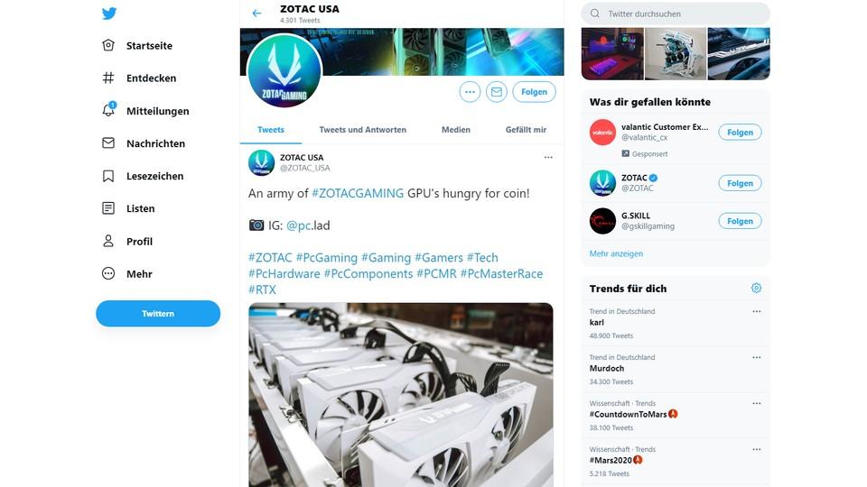 news mining twitter zotac 6129770