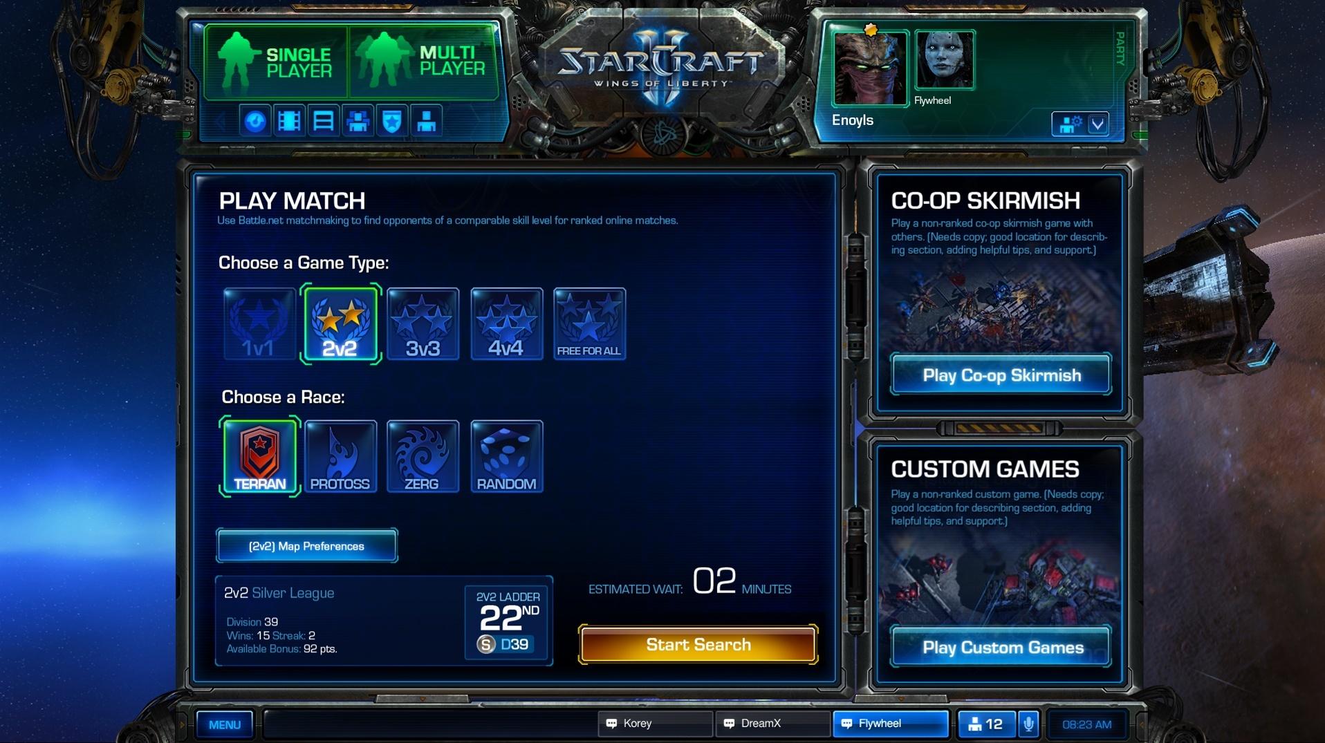 from Brecken starcraft 2 matchmaking achievements