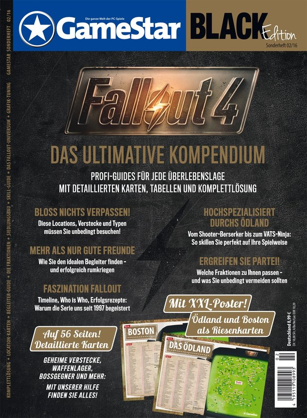 Ab 4.12. am Kiosk: die Fallout 4 Black Edition inklusive XXL-Poster