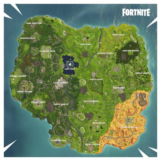 Fortnite-Map in Season 6.