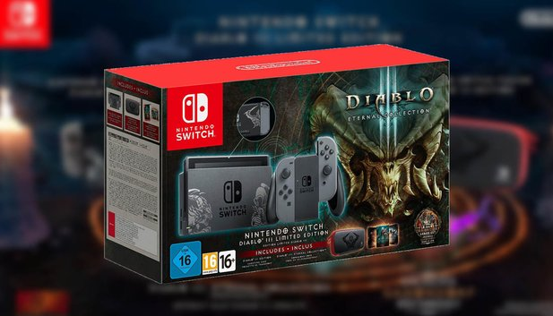 Nintendo Switch im Diablo 3-Design.