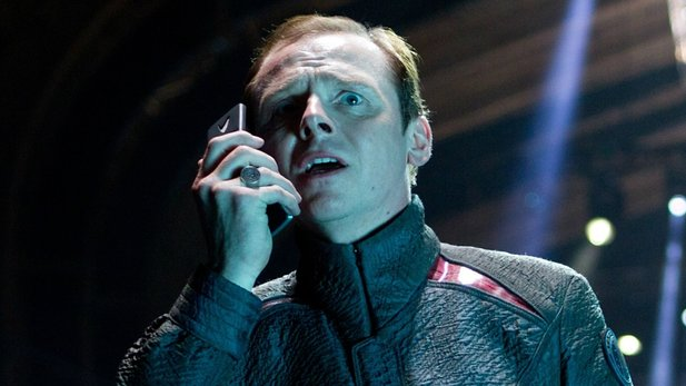 Simon Pegg als Scotty in Star Trek von J.J. Abrams.