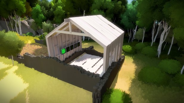 Jonathan Blow zeigt ein Gameplay-Video von The Witness.