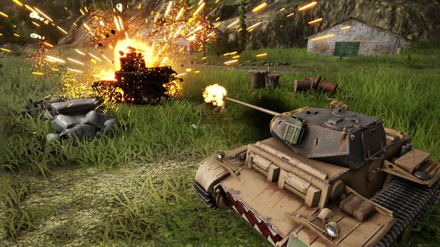 An Action mangelt es in World of Tanks: Mercenaries definitiv nicht.