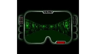 The green illumination is caused by the use of the night vision goggles, necessary in dark areas.