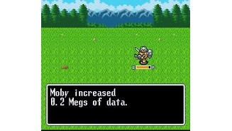 Experience is gained in Megs of data