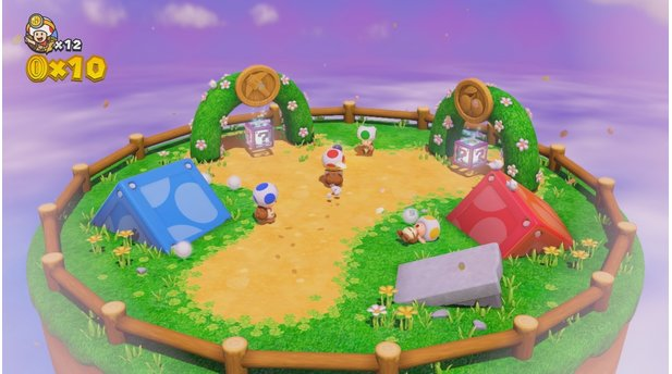 Captain Toad: Treasure TrackerDer knallbunte Comicstil von Captain Toad: Treasure Tracker entspricht dem der Super-Mario-Spiele.