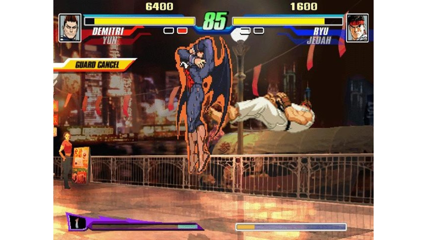 Darkstalker and Street Fighter clash.
