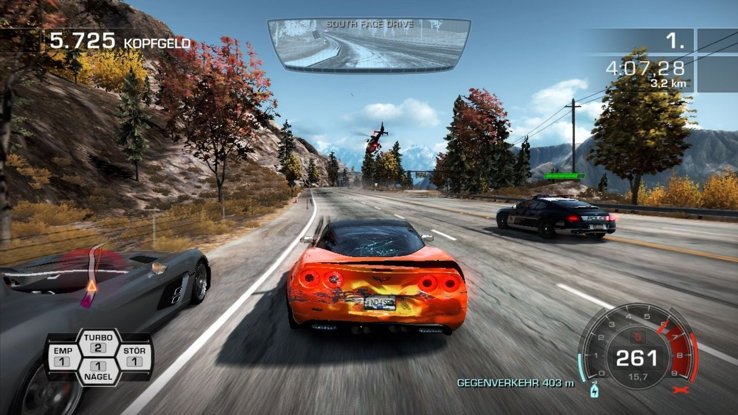 Need for Speed: Hot PursuitScreenshots aus der PC-Testversion.