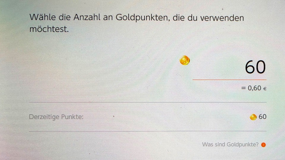 Nintendo Switch: Goldpunkte im eShop.