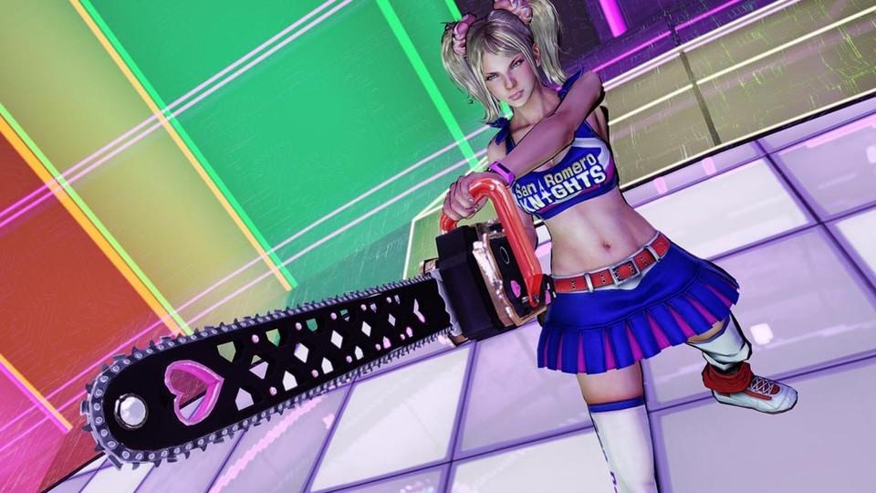 Süße Blonde Cheerleaderin